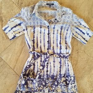Peter Som blue and white skirt dress size 4